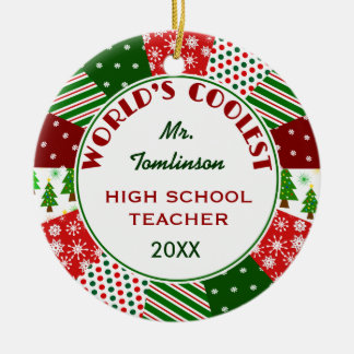 2014 COOLEST TEACHER or Any Occupation Christmas Tree Ornaments