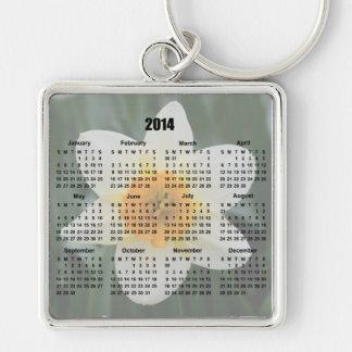 2014 daffodil flower calendar keychain