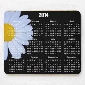 2014 daisy calendar Mousepad