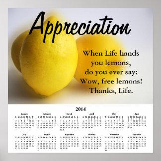 2014 Demotivational Calendar Appreciation Print