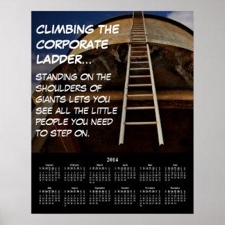 2014 Demotivational Calendar Corporate Ladder Posters