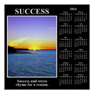 2014 Demotivational Calendar Meaning of Success Poster