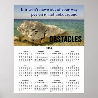 2014 Demotivational Calendar Obstacles Poster
