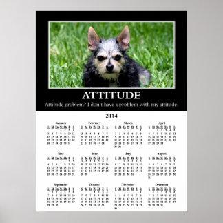 2014 Demotivational Wall Calendar Bad Attitude Posters