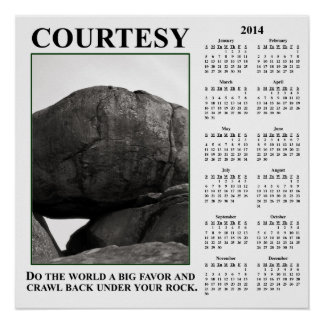 2014 Demotivational Wall Calendar Leave Me Alone Print