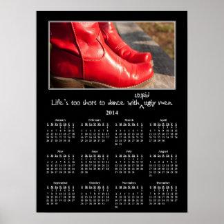 2014 Demotivational Wall Calendar Man Problems Poster