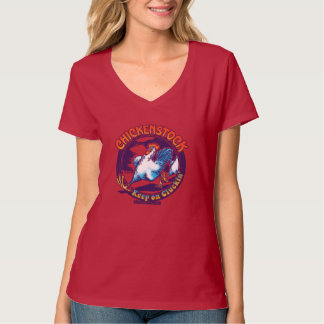 2014 Fair Oaks Chicken Stock V-neck Tee: Color W T-Shirt