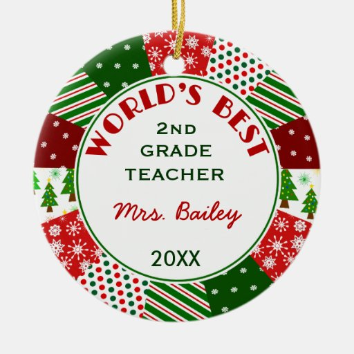 2014 For Favorite Teacher Customized Christmas Ornaments