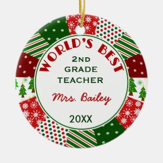 2014 For Favourite Teacher Customised Round Ceramic Decoration