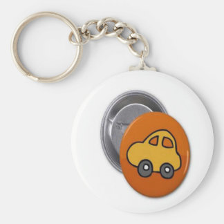 2014 GIFTS : MINI TOY CAR Button Basic Round Button Key Ring