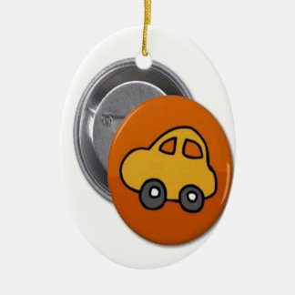 2014 GIFTS : MINI TOY CAR Button Christmas Tree Ornaments