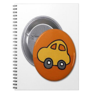 2014 GIFTS : MINI TOY CAR Button Spiral Notebook