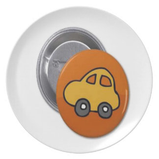 2014 GIFTS : MINI TOY CAR Button Party Plate