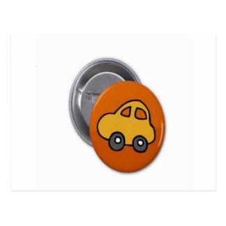 2014 GIFTS : MINI TOY CAR Button Postcard