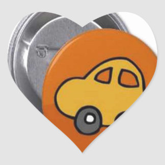 2014 GIFTS : MINI TOY CAR Button Heart Stickers
