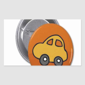 2014 GIFTS : MINI TOY CAR Button Rectangular Sticker