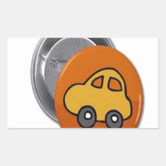 2014 GIFTS : MINI TOY CAR Button Rectangular Sticker