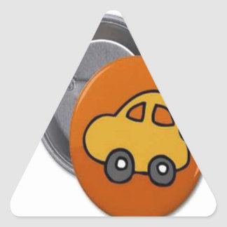 2014 GIFTS : MINI TOY CAR Button Triangle Stickers