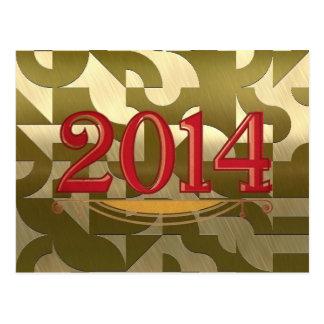 2014 golden postcard