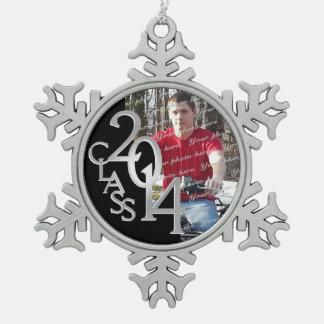 2014 Graduate Photo Pewter Snowflake Decoration