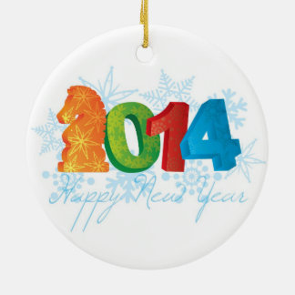 2014 Happy Chinese New Year of the Horse Ornament