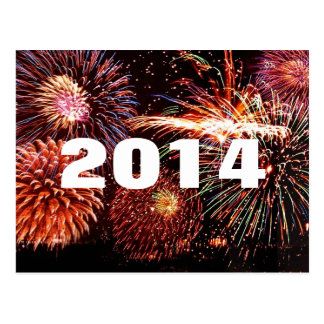 2014 Happy New Year's Fireworks Postcard
