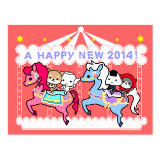 2014  Horse New Year Post Card