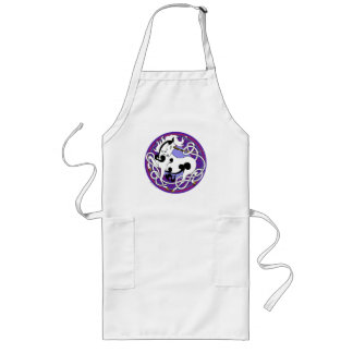2014 Mink Chef: Unicorn Apron - White/Black/Purple