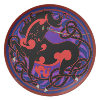 2014 Mink Chef: Unicorn Plate - Red/Black