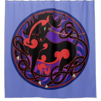 2014 Mink Nest Unicorn Shower Curtain - Sky Blue