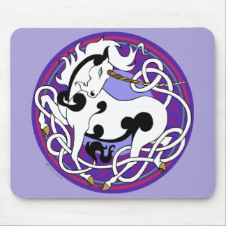 2014 Mink Office: Unicorn Mouspad - Black/Purple Mouse Pad