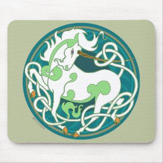 2014 Mink Office: Unicorn Mouspad - Green/White Mouse Pad