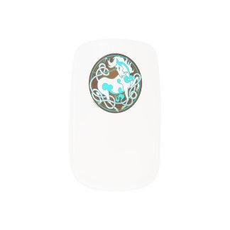 2014 Mink Style Unicorn Nail Wraps - Blue/Brown