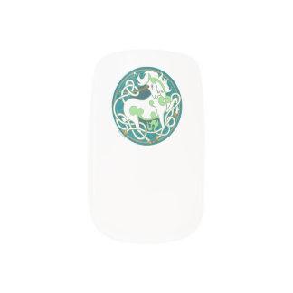2014 Mink Style Unicorn Nail Wraps - Green/White