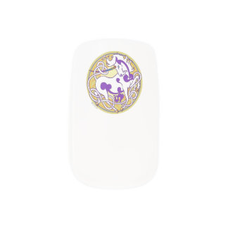 2014 Mink Style Unicorn Nail Wraps - Purple/Yellow
