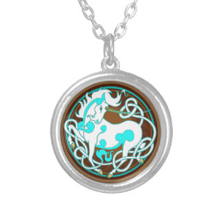 2014 Mink Style Unicorn Necklace - White/Blue