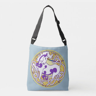 2014 Mink Totes: Unicorn CrossBody - White/Purple Crossbody Bag