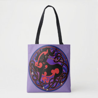 2014 Mink Totes: Unicorn Fancy Tote - Red/Black