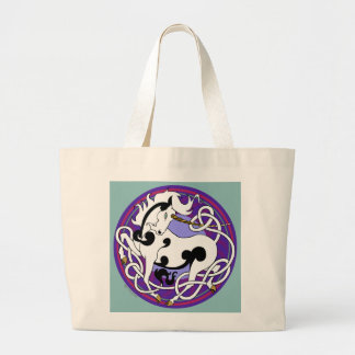 2014 Mink Totes: Unicorn Jumbo Tote - Black/Purple