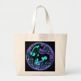 2014 Mink Totes: Unicorn Jumbo Tote - Blue/Black