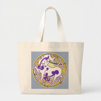 2014 Mink Totes: Unicorn Jumbo Tote - White/Purple