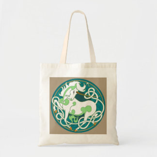 2014 Mink Totes: Unicorn Tote - Green/White