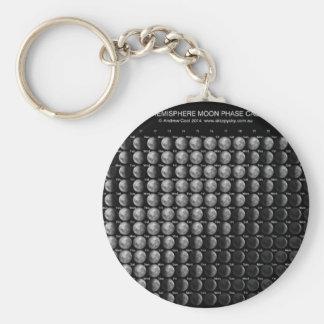 2014 Moon Phase Calendar Northern Hemisphere.png Basic Round Button Key Ring