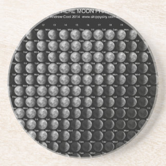 2014 Moon Phase Calendar Northern Hemisphere.png Sandstone Coaster