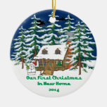 2014 New Home Christmas Cabin Ornament