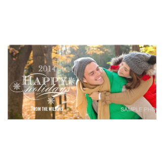 2014 SIMPLE HAPPY HOLIDAYS HOLIDAY PHOTO CARDS