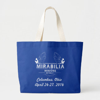 2014 Tote, White Graphic Large Tote Bag