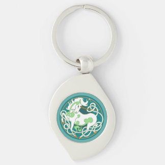 2014 Unicorn Keychain - Green/White