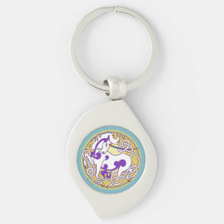 2014 Unicorn Keychain - Purple/White/Teal