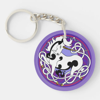 2014 Unicorn Two-Sided Keychain - Purple